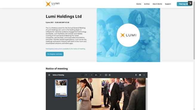Events Page Lumi