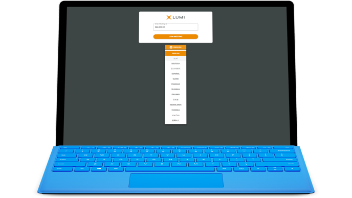 Lumi AGM Mobile - Language Select - Laptop