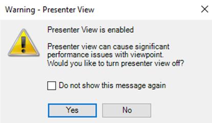 Presenter View Warning